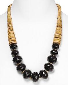 "RJ Graziano Long Stone Necklace, 24"""