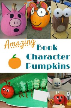 No need to carve pumpkins -- students can recreate favorite storybook characters with these pumpkin decorating ideas! All you need is paint and paper.