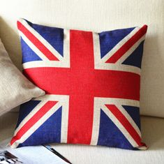 UK Flag Print Decorative Pillow