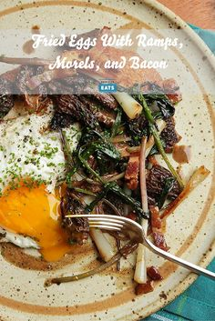 There's not really much to say about fried eggs with ramps and morels ...