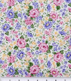 Keepsake Calico Fabric-French Bouquet Pink Lavender: keepsake calico fabric: quilting fabric & kits: fabric: Shop | Joann.com