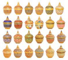 Benjarong. Traditional Thai porcelain.