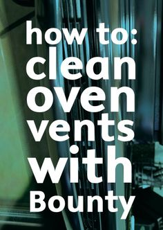 We always forget to clean the vents on the oven door...GROSS! Check out this cool hack to use Bounty to get rid of the mess.
