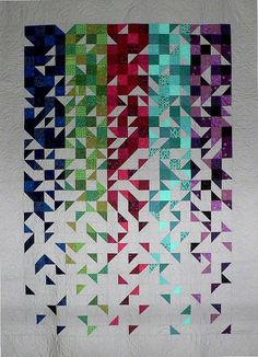 """Shattered - 57 1/2"""" x 80"""". A Kit by Mill House Quilts."""