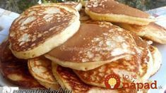 To je nápad! Quick Recipes, Sweet Recipes, Griddle Cakes, Tasty Kitchen, Sweet Desserts, Nutella, Ham, Pancakes, Deserts