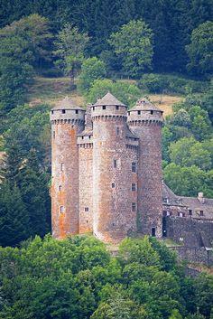 Château d'Anjony castle in Tournemire, Auvergne, France.