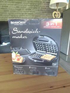Biete einen neuen Sandwichmaker 3-in-1 von SilverCrest an.  Die Verpackung wurde geöffnet, um...,SilverCrest Sandwichmaker 3-in-1 Sandwich, Waffeln, Grill Neu in Hessen - Haiger