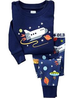 Outer Space PJ Sets for Baby