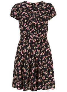Tall navy floral skater dress - View All Dresses - Dresses Tall Dresses, Casual Dresses, Short Sleeve Dresses, Dresses Dresses, Tall Clothing, Floral Skater Dress, Fit Flare Dress, Fashion News, Dress Skirt