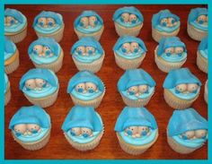 Twin baby shower cupcakes By tamivo on CakeCentral.com