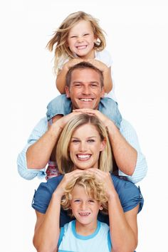 stock photo : Portrait of happy middle aged couple with two little children smiling on white background Pose Portrait, Family Portrait Poses, Family Picture Poses, Family Portrait Photography, Family Posing, Children Photography, Photography Poses, Family Photos, Outdoor Family Photography