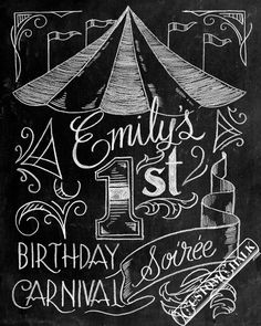 Carnival Birthday Sign  Circus Birthday Sign  by customchalk, $49.00