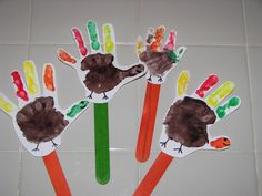 turkey bookmarks as cute craft or reading buddy gift?!