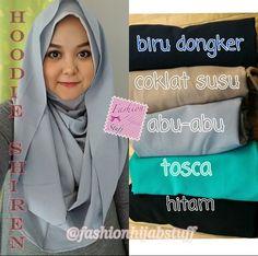 Hoodie shireen  Matt: premium crepe Inner nyambung jersey halus  Instan hijab, simple tapi tetep cantik  Only IDR 60 k