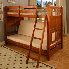 Dorel TwinOverFuton Contemporary Bunk Bed ?
