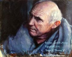 "Maester Luwin played by Donald Sumpter on ""Game of Thrones"" painting by Kristina Laurendi Havens"