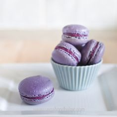 Blueberry and Lime Macarons | Vagabond Baking