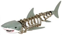 Play and build your own Great White Shark with this Nuts & Bolts Great White Shark set. This construction set comes with 198 pieces, which includes variety of nuts & bolts, metal alloy construction pieces, plastic heads and fins, a wrench and a Building Sets For Kids, Model Building Kits, Realistic Stuffed Animals, All Tools, Online Gift Shop, Museum Shop, Presents For Friends, Novelty Items, Shark Week