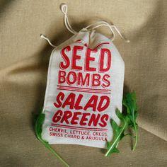 Salad Greens Seed Bombs