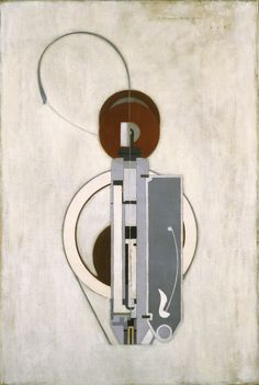 Painting VIII (Mechanical Abstraction) by Morton Livingston Schamberg, (American, 1881 - 1918), oil on canvas | Philadelphia Museum of Art