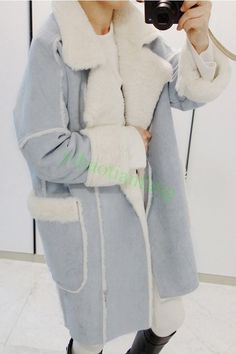 Women Faux Fur Lining Thicken Warm Winter Overcoat Hot Jacket Vogue Outdoor Coat