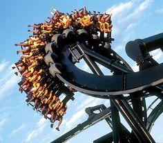 Batman roller coaster at Six Flags St. Louis!