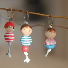 Make keychains, I still like it! This male … – Door Ideas Cute Crafts, Bead Crafts, Jewelry Crafts, Diy And Crafts, Crafts For Kids, Wood Peg Dolls, Clothespin Dolls, 1st Grade Crafts, Making Wooden Toys