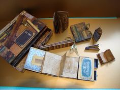 This book, with all its mini books and matchbox drawers looks terrifying, but so awesome that I might have to try it.