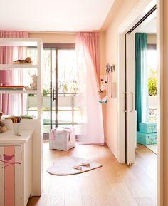 Habitaciones infantiles comunicadas por puerta corredera