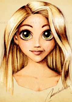 Cute Rapunzel fanart. Her eyes are really quite stunning.
