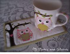 Lojinha Sisters and Stitches: Mug Rug Coruja