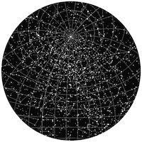 Star map of the night sky on a special date. #giftidea