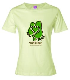 Is someone that you love with Down syndrome inspirational to you?  Then this is the shirt for you!  www.DownSyndromeFootprint.com
