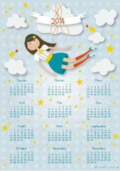 IMAGE : Calendrier 2014 Pauline Courtois mini