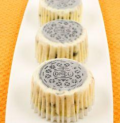 Oreo cookies n cream cheesecakes