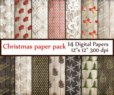 "Christmas Digital Paper: ""CHRISTMAS PAPER""  Wood Digital Papers Rustic Christmas papers Shabby Christmas  Christmas Wood Background"