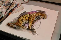 #jaguar #watercolor #acuarela