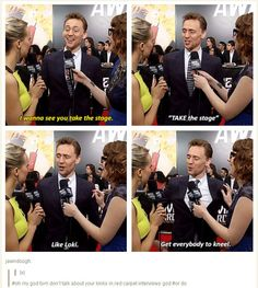 "Love the comment/caption at the end of this - ""oh my god don't talk about your kinks in red carpet interviews... or do."" :P"