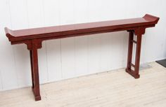 18th Century Chinese Altar Table | From a unique collection of antique and modern console tables at http://www.1stdibs.com/furniture/tables/console-tables/