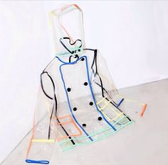multicolored clear raincoat