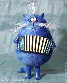 Игрушки животные, ручной работы. Ярмарка Мастеров - ручная работа Кот-музыкант. Handmade.
