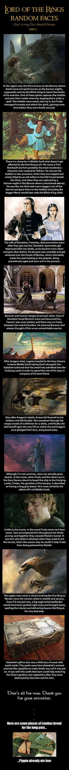 Here are some Lord of the Rings random facts (Part 5):