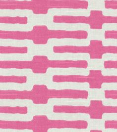 Home Decor Fabric-Annie Selke Links Pink, , hi-res Pink Home Decor, Home Decor Fabric, Pink Patterns, Fabric Patterns, Floor To Ceiling Curtains, Pine Cone Hill Bedding, Joanns Fabric And Crafts, Online Craft Store, Joann Fabrics
