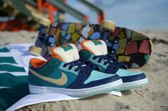 MIA Skate Shop x Nike SB Dunk Low Pro: It's no secret that the shores of Miami make for not only some of the best beach-set scenery on Nike Shoes Online, Nike Free Shoes, Sneakers Fashion, Sneakers Nike, Magic Shoes, Wholesale Nike Shoes, Lv Shoes, Nike Air Flight, Skate Shop