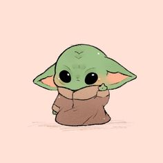 Baby Yoda Chibi Fan Art You are in the right place about christmas rustic Here we offer you the most beautiful pictures about the. Cute Disney Drawings, Cute Cartoon Drawings, Cute Animal Drawings, Kawaii Drawings, Cute Cartoon Animals, Cartoon Wallpaper Iphone, Cute Disney Wallpaper, Cute Cartoon Wallpapers, Animes Wallpapers