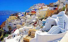 Se promener sur l'île de santorin grece