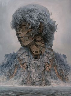 chinese artist depicts rockstars as ancient architectural - Particle News