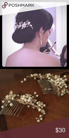 Wedding Hair Accessory These two combs combine to make the perfect hair accessory for weddings or formal events. Accessories Hair Accessories