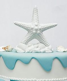 Starfish Wedding Cake Topper from Hotref.com