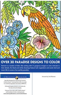 Welcome to Dover Publications -- CREATIVE HAVEN PARADISE DESIGNS